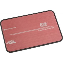 Корпус 2.5' AgeStar 3UB2A8 SATA, USB3.0 Red