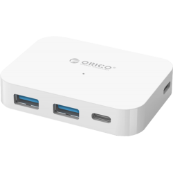 4-port USB type C Hub Orico TC2U-U3-WH белый (USB3.0 тип А х 2, USB3.0 тип C х 2)
