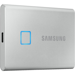 Внешний SSD-накопитель 1.8' 1000Gb Samsung T7 Touch MU-PC1T0S/WW (SSD) USB 3.2 Type C Серебристый
